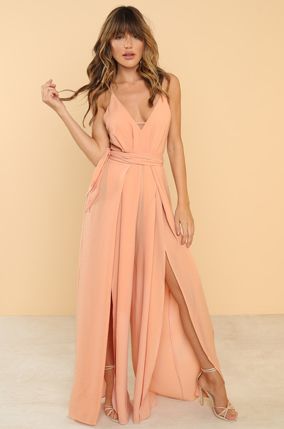 Rise Up Jumpsuit - Blush