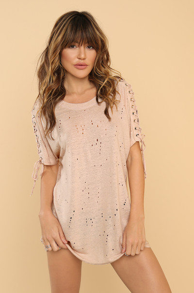 Side To Side Tee - Blush