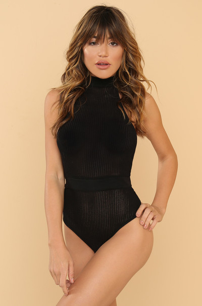 Caught In You Bodysuit - Black