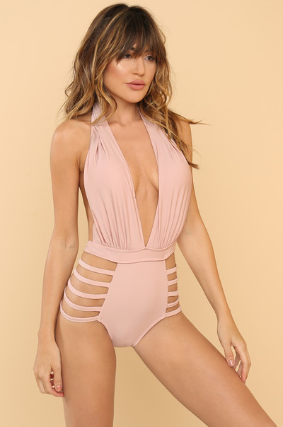 Line By Me Swimsuit - Blush