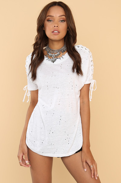 Side To Side Tee - White
