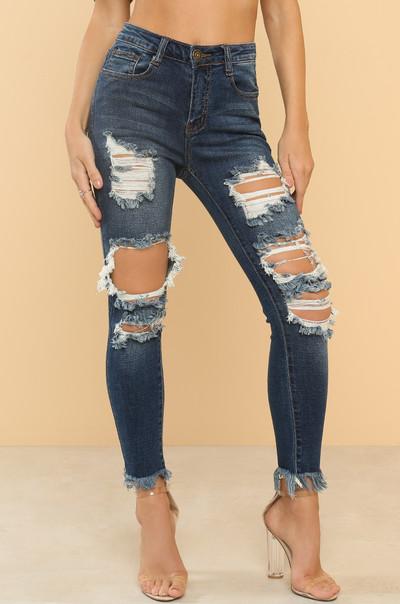 In Distress Jeans - Denim