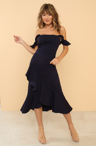 Make You Mine Dress - Navy