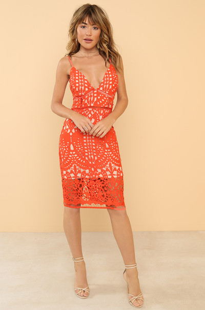 For Love Dress - Orange