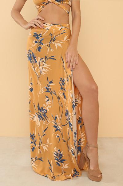 Wrapped Around You Skirt - Marigold