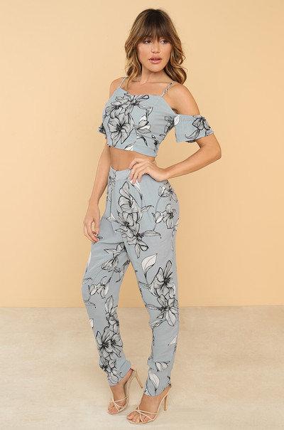 Double Up Co-ord Set - Dusty Blue