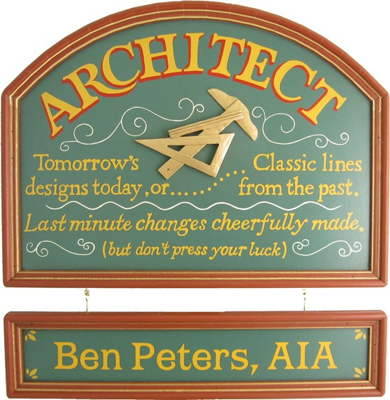 Personalized Architect Sign