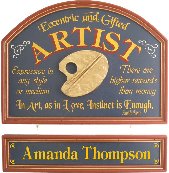 Personalized Artist Sign