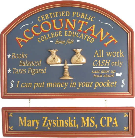 Personalized Accountant Sign
