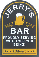 Home Bar Sign Personalized