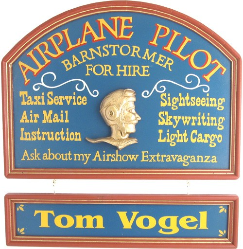 Personalized Pilot Sign