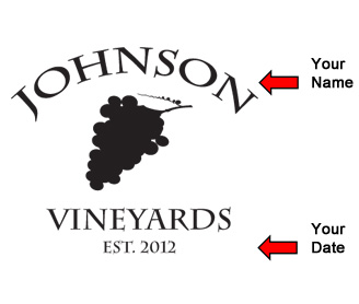 Custom Vineyards Label Design