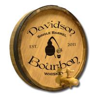 Single Barrel Bourbon Custom Barrel Sign