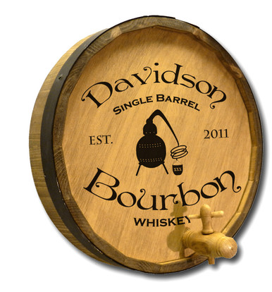 Single Barrel Bourbon Custom Barrel Sign
