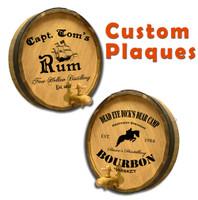Custom Quarter Barrel Plaque