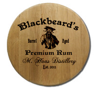 Pirate Barrel Head Sign Personalized