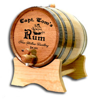 Pirate Ship Oak Barrel Personalized