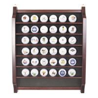 36 Golf Ball Display Rack in Rosewood