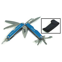 Engraved Metal Multi Tool with Belt Pouch | Blue