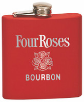 Custom Engraved Stainless Steel Flask in Matte Red