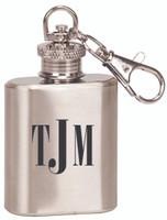 Engraved Keychain Flask | Monogram Initials