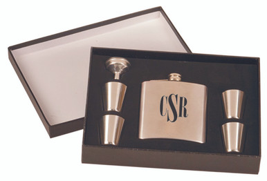 Personalized Stainless Steel Flask Gift Set