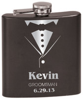 Personalized Tuxedo Flask - Groomsman