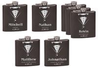 Personalized Tuxedo Flask Wedding Gift Set of 7