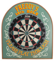 19th Hole Dartboard Personalized | Game Room Decor