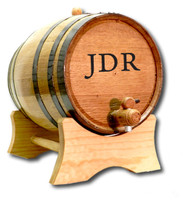 Personalized Groomsmen Gift Barrel with Initials