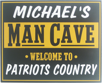 Personalized Man Cave Sign for Your Team