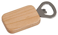 Maple Wood Rectangle Bottle Opener