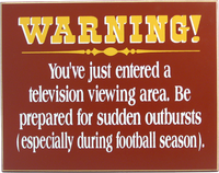 Football Warning Sign no Frame