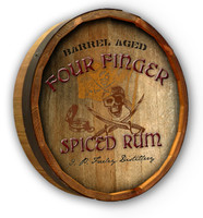 Pirate Rum Custom Color Quarter Barrel