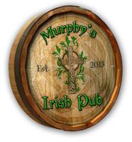 Custom Irish Pub Barrel Sign