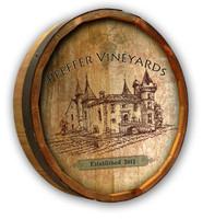 Custom Vineyard Quarter Barrel Sign