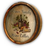 Wine Cellar Color Quarter Barrel Sign