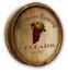 Custom Grapes Color Quarter Barrel Sign