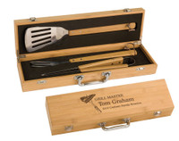 Personalized Bamboo BBQ Gift Set