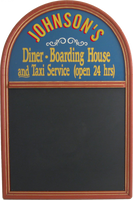 Custom Diner & Boarding House Chalkboard