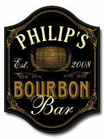Personalized Bourbon Bar Sign