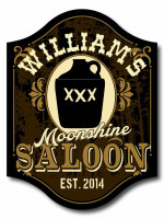 Personalized Moonshine Saloon Sign