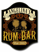 Personalized Rum Bar Sign