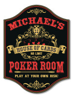 House of Cards Poker Room Sign Personalized