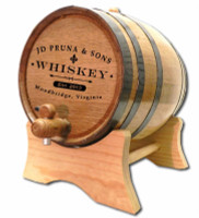 Custom Distillery Label Oak Barrel