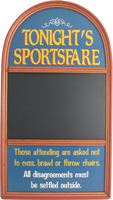 Tonight&#039;s Sportsfare Chalkboard