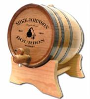 Bourbon Whiskey Still Oak Barrel