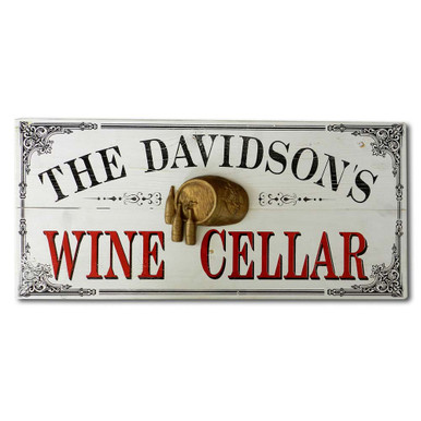 Personalized Vintage Wine Cellar Wood Plank Sign