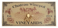 Distressed Wood Vineyards Plaque