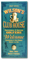 Distressed Wood Vintage Club House Plaque